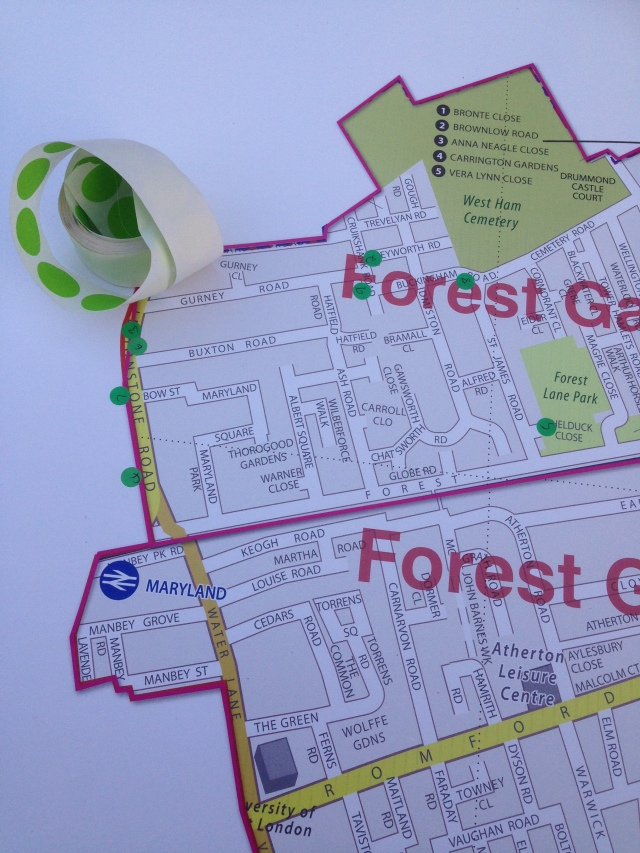 Marking hotspots on the ward map