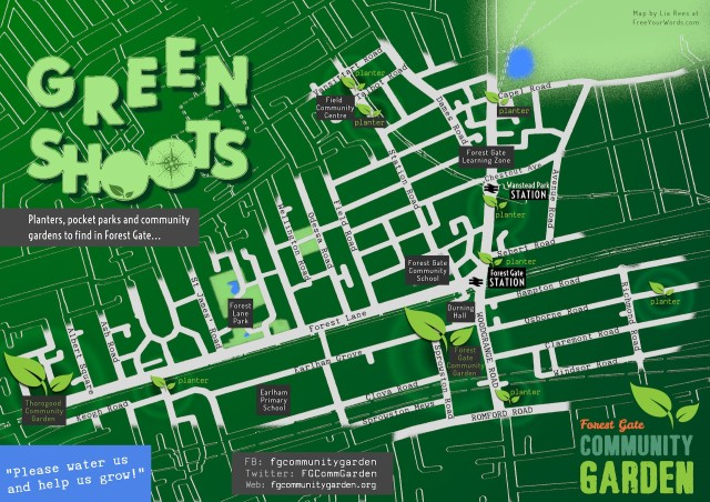 Map of planting across Forest Gate